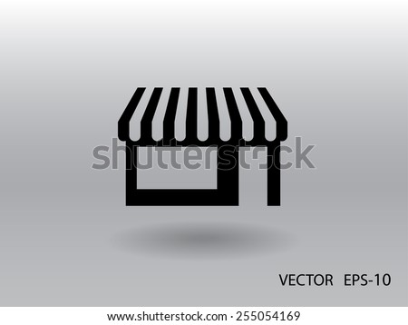 Store icon, vector illustration - stock vector