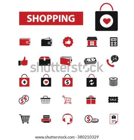 store, shopping, retail, sales icons  - stock vector