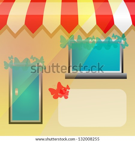 Storefront background - stock vector