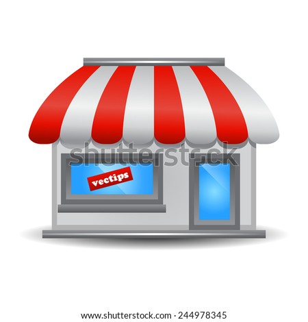 Storefront icon - stock vector