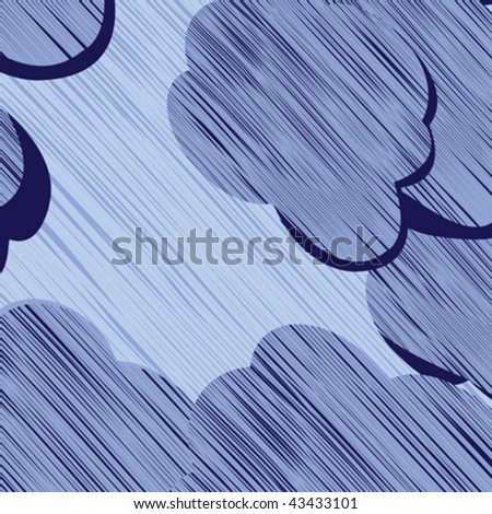 Storm clouds background illustration - stock vector