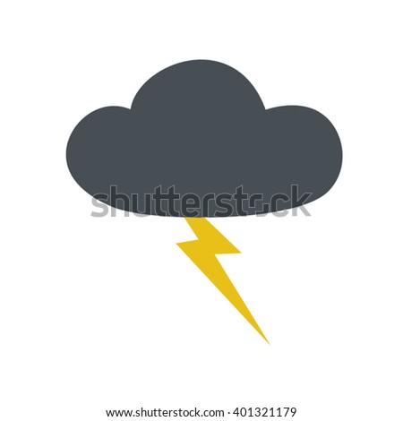 storm symbol - stock vector