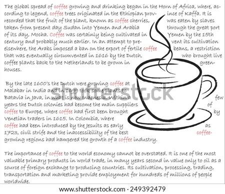 Story of coffee vector artwork  - stock vector