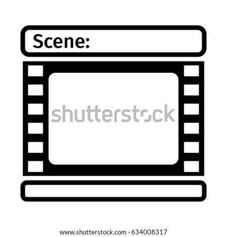 Storyboard Template Icon Form Film Scenario Stock Vector