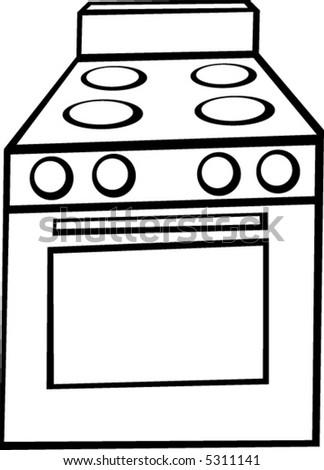 stove clipart black and white. stove clipart black and white
