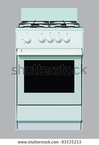 stove for cooking - stock vector