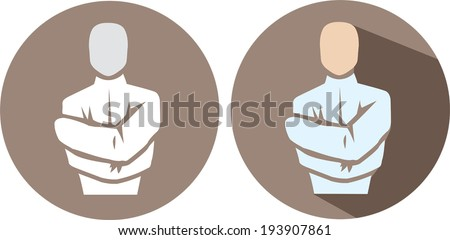 Straight Jacket Icon - stock vector