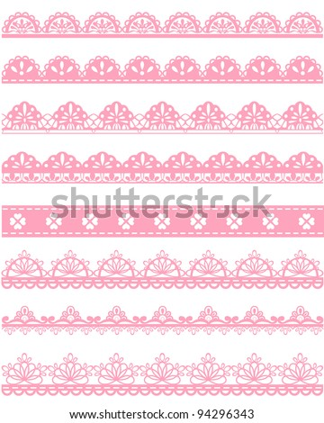 straight lace - stock vector