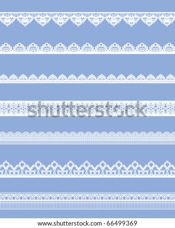 straight lace set - stock vector