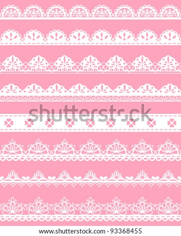 straight lace vector - stock vector