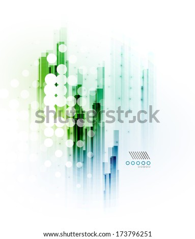 Straight lines - hi-tech futuristic modern background - stock vector