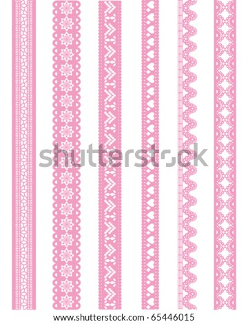 straight pink lace - stock vector