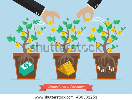 Strategic asset allocation. Business concept - stock vector