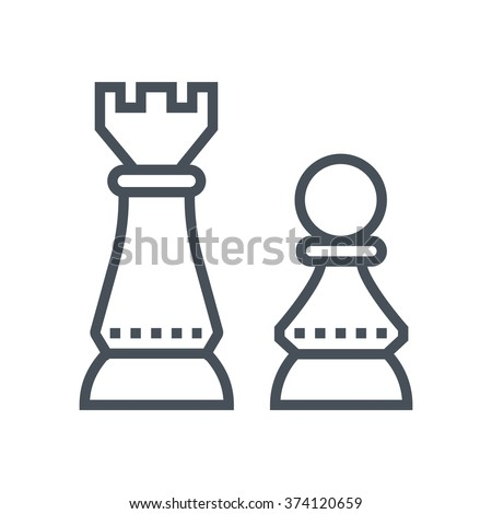 Strategic thinking icon suitable for info graphics, websites and print media and  interfaces. Line vector icon. Human face, head, line vector icon. - stock vector