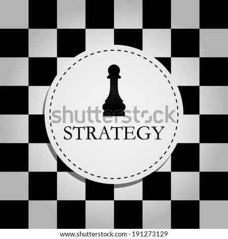 STRATEGY - stock vector