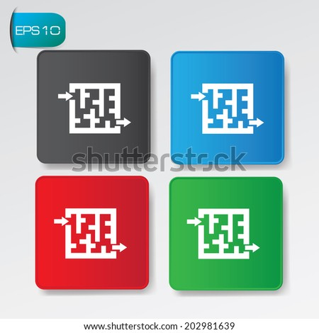 Strategy buttons,vector - stock vector