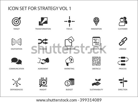 Business Icons Symbols Various Industries Business Stock Vector ...