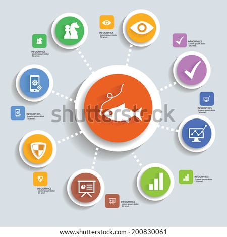Strategy info graphic design,vector - stock vector