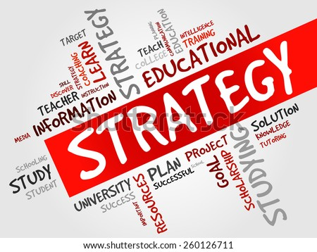 STRATEGY word cloud, education concept - stock vector