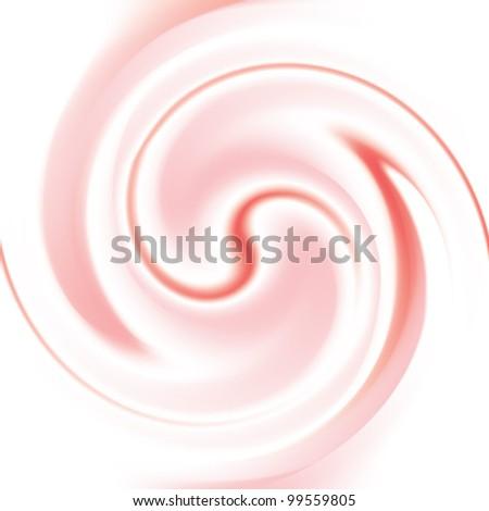 Strawberry and milk cream  texture - stock vector
