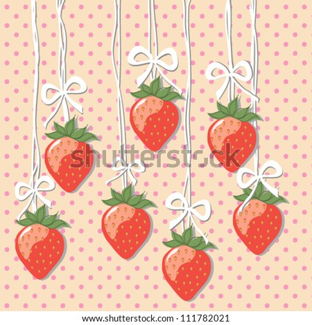 Strawberry background - stock vector