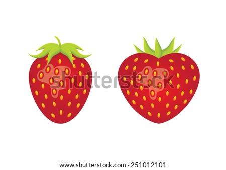 strawberry heart - stock vector