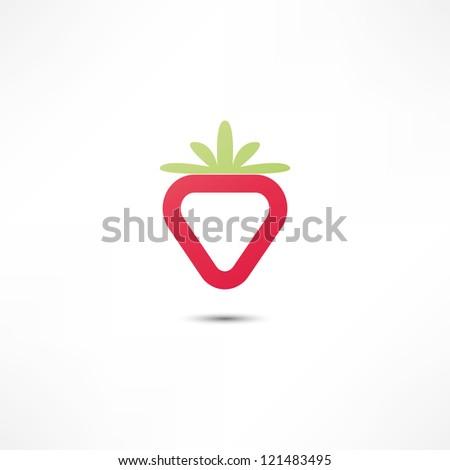Strawberry Icon - stock vector