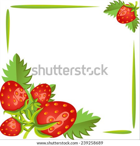 Strawberry isolated on white background. Vector - stock vector
