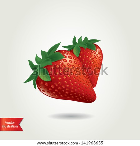 Strawberry isolated.Vector illustration.