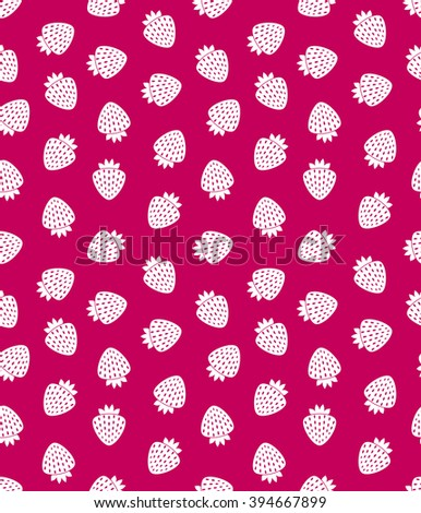 Strawberry seamless pattern. Pink abstract. Fruit background. - stock vector