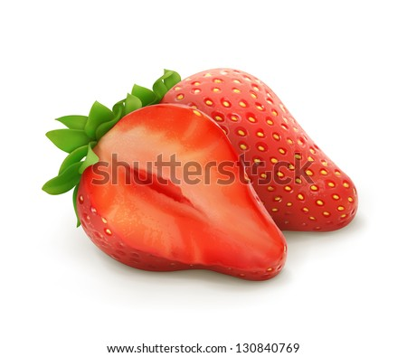 Strawberry, vector illustration - stock vector