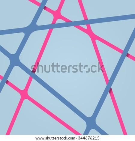 Streaks background. Abstract streaks background. Crossing streaks. Nodes in intersections streaks. Streaks background 3d. Streaks background different levels. Overlapping abstract streaks background. - stock vector