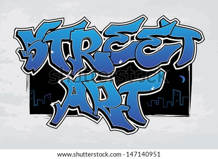 Street Art - graffiti. EPS8.