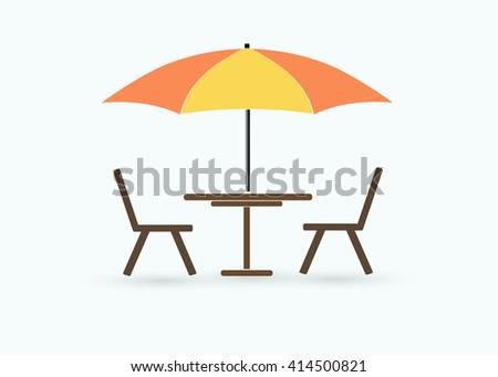 Street cafe icon. - stock vector