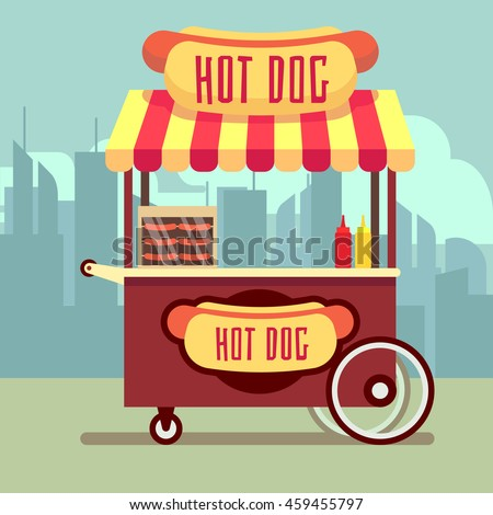 Free Hot Dog Cart Clip Art