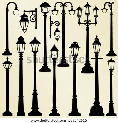 Street lamps - stock vector