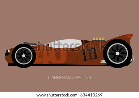 Modern Muscle Car Side View Flat Stock Vector Shutterstock