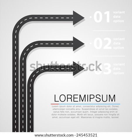 Street road and sign infographics design template - stock vector