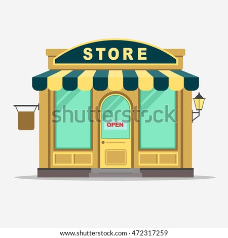 Vintage shop front stock images royalty free images for Store building design