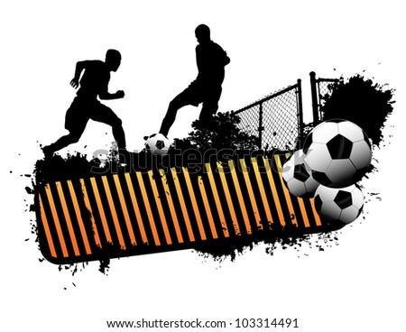Street Soccer - stock vector