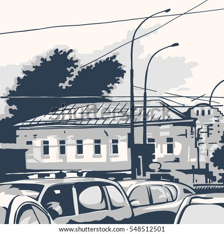 Street views of the city with historical buildings.