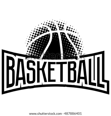 Streetball Basketball Icon Logo Set Ball Stock Vector ...