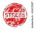 stress label - stock vector