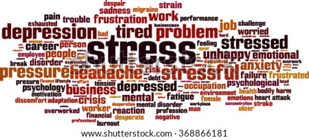 Stress word cloud concept. Vector illustration - stock vector