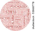 STRESS. Word collage on white background. Vector illustration. - stock photo
