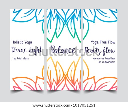 Stretch strength yoga card design colorful stock vector 1019051251 yoga card design colorful template for spiritual retreat or yoga studio reheart