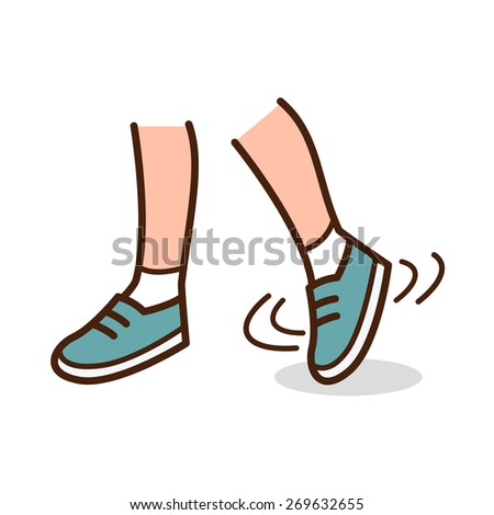 Stretch of ankle - stock vector