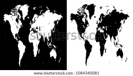 Stretched vector world map illustration isolated stock vector stretched vector world map illustration isolated over white and black background flat globe earth gumiabroncs Gallery
