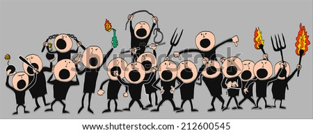 Strike action  - stock vector