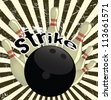 Strike out poster - stock photo